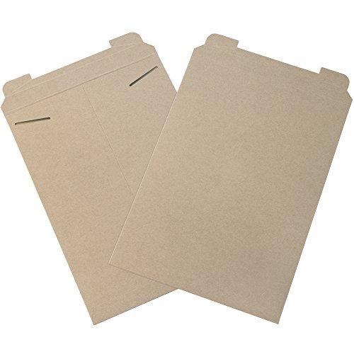 Aviditi RM6 Flat Mailer, 18' Length x 13' Width, Kraft (Case of 100)