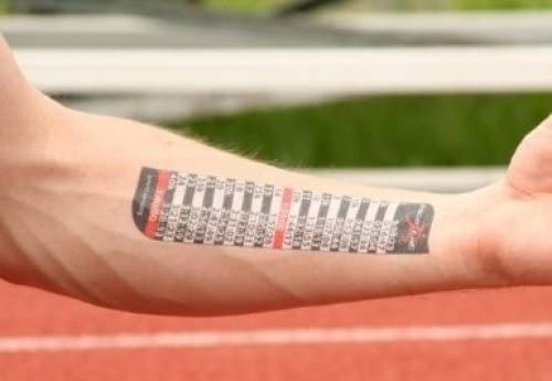 PACE TAT - Today's only Temporary Pacing Tattoo and 5 ☆ very popular Full Half Mile Splits