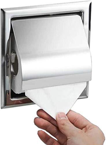 WANNA.ME Toilettenpapierhalter aus rostfreiem Stahl für die Wand Chromierter Toilettenpapierhalter für die Wandeinbau