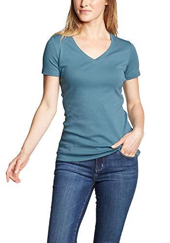 Eddie Bauer Favorite Shirt - Kurzarm mit V-Ausschnitt Blautanne 32