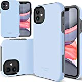 TEAM LUXURY iPhone 11 Case, [Clarity Series] Shockproof, Anti-Drop Protection, Phone Case for Apple iPhone 11 6.1 Inch for Women & Men (Light Blue)