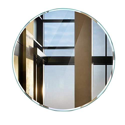 Zfggd Miroir Rond de Salle de Bains Miroir Miroir sans Bordure Miroir de Coiffeuse de Lavage (Size : 58 * 58cm)