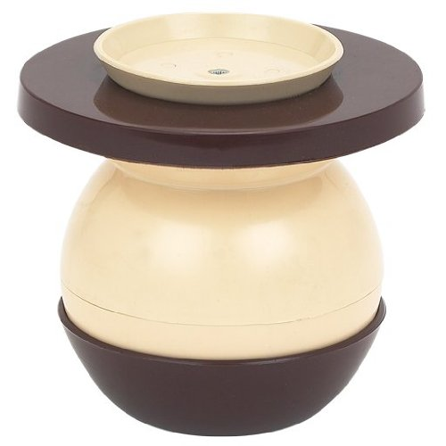 NEW Brown and Tan Plastic Portable Spittoon