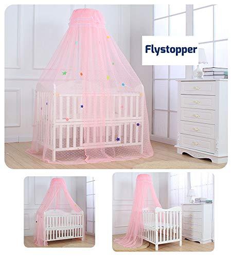 Babyklamboe babybed - Klamboe roze | 30x170x500 cm | Flystopper K500
