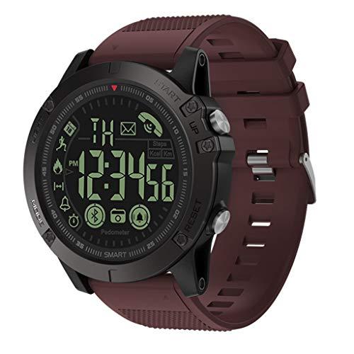 YWLINK Reloj Inteligente De 50 Metros Impermeable IP67 El úLtimo 2019 T1: SúPer Resistente De Flagship Rugged Grade PodóMetro Contador De CaloríA Smartwatch Compatible con iOS Android(Rojo,)