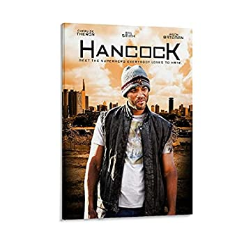 JDHX Hancock Movie Poster Classic Film Art Cover3 Canvas Art Poster Picture Print Modern Wall Decor for Bedroom Living room08×12inch 20×30cm