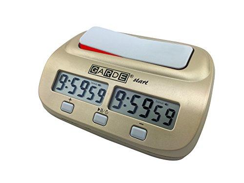 Garde - E420 - Pendule d'échecs Digitale Start pour incrémenter et Compte à rebours Plus incrément, Couleur Or