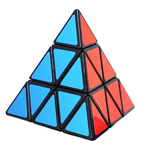TOYESS Cubo Piramide 3x3x3, Pyraminx Cubo de Velocidad Rompecabezas Puzzles 3D para Niño Adultos