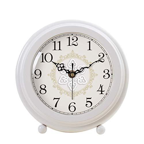 O&YQ Horloge de Table de Comptoir Horloge de Bureau Muette Horloge de Chevet Vintage de la Personnalité Étudiante Décor Horloge de Table D'Étude de Salon Il S'Applique Aux Familles Aux Bureaux Etc.bl