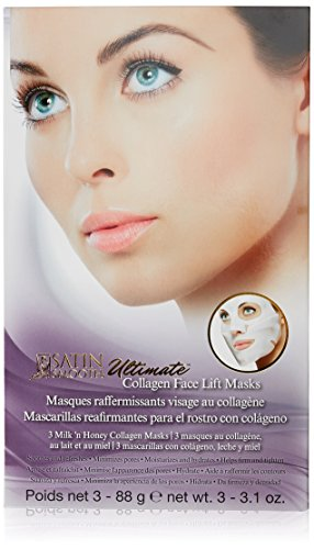 Satin Smooth Ultimate Face Lift Collagen Mask, 3.1 Ounce, 3 Pcs