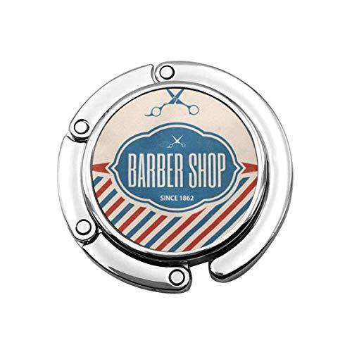 Nette Faltbare Geldbörse Kleiderbügel Geldbörse Haken Pole Retro Barber Vintage Barbershop Salon Zeichen Schere Haar
