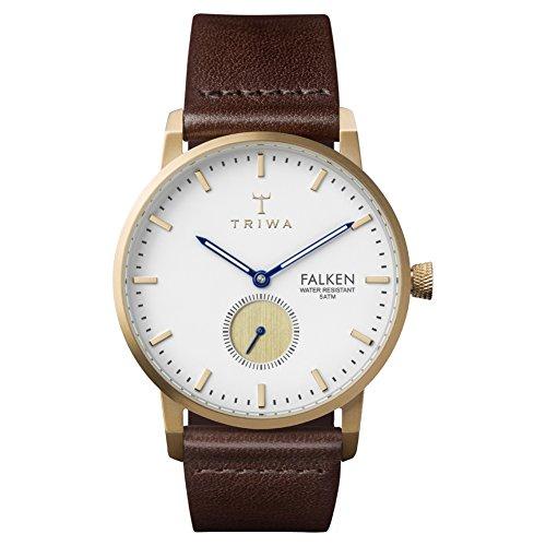 Triwa Unisex Erwachsene Chronograph Quarz Uhr mit Leder Armband FAST110-CL010413