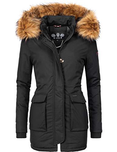 Navahoo – Giacca invernale da donna con cappuccio, parka Nero XS