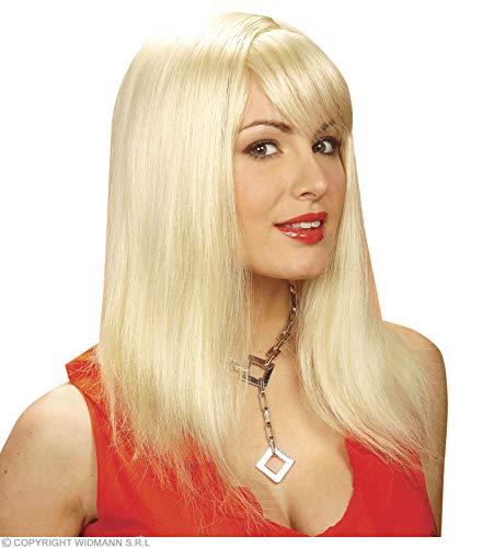 Widmann p0921 ? Femme Perruque Cheveux Longs Pamela, Taille Unique Adulte en boîte, Blond