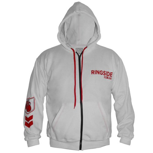 Ringside Youth Industry Domination Hoodie, White/Red, Medium
