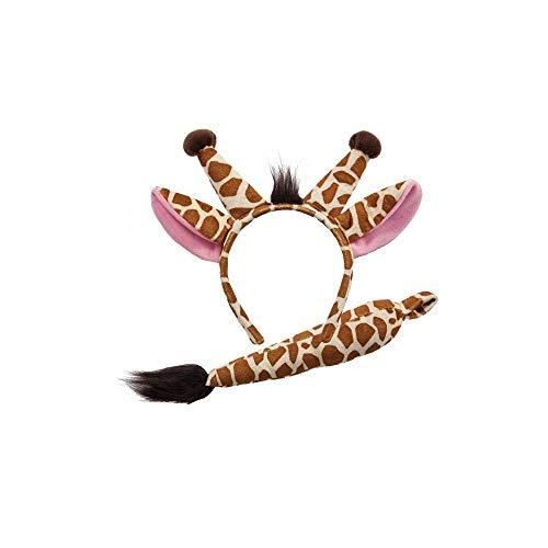 Animal Ears & Tail Set - Giraffe Kids Fancy Dress