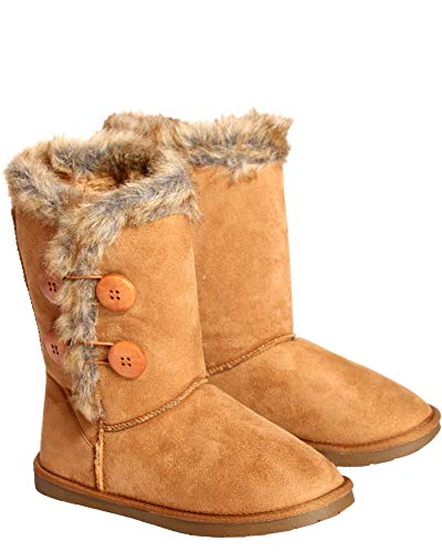 Anna Almeida Womens 4 Bottom Fur Weather Boot,Camel,7
