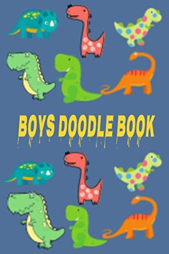 boys doodle book: Blank Dinosaur Notebook ,aqua doodle,aquamat doodle (Drawing Pad Sketch Book) (6 x 9 Large)