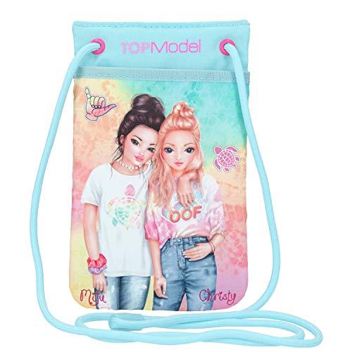 Depesche 11004 Handytasche im TOPModel Nice Design, Tasche fürs Smartphone zum Umhängen, ca. 18,5 x 11 x 1,5 cm groß, Außenmaterial 100 % recycelt