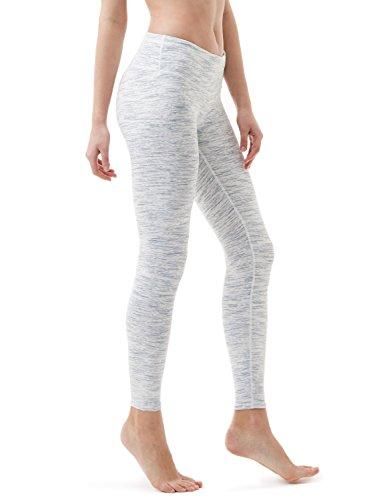 TSLA Women's Capri Yoga Pants, Workout Running Tights, 4-Way Stretch Leggings with Hidden/Side Pocket, Midwaist(fyp51) - Spacedyewhite, Medium