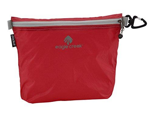 Eagle Creek Wasserabweisender Kulturbeutel Pack-It Specter Sac Medium platzsparende Packlösung mit Clip Kofferorganizer, 26 cm, 3 l, rot/Volcano rot