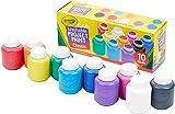Crayola - 10 pots de peinture lavable - boîte française - Peinture et accessoires - 256325.006
