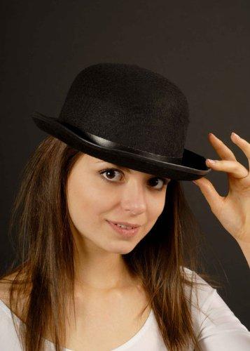 Clockwork Orange Black Bowler Hat Movie Fancy Dress 90s 80s 70s 60s Top Hat fancy dress by The Dragons Den