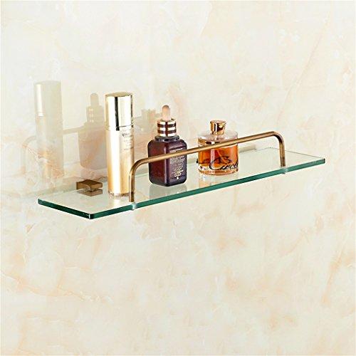Imitation verre antique Salle de bains étagère Salle de bains Toilette Tablette Coiffeuse Porte-serviettes/salle de bains (taille : 60 * 14cm)