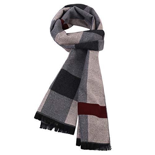 iClosam Mens Luxurious Winter Scarf Silky Warm Fashion Formal Soft Scarves
