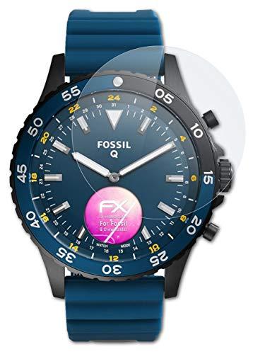 atFoliX Glasfolie kompatibel mit Fossil Q Crewmaster Panzerfolie, 9H Hybrid-Glass FX Schutzpanzer Folie