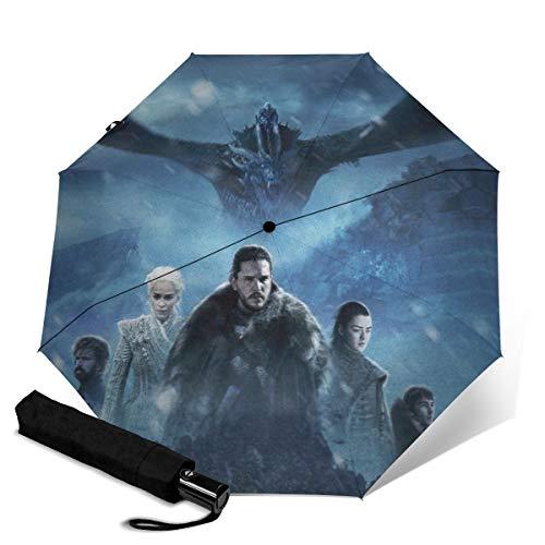 Game Thrones Automatischer Dreifach Faltschirm Unisex Bedruckter Regenschirm Manueller Regenschirm Tragbarer Regenschirm