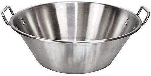 """high quality Cazo Grande Para Carnitas online sale Extra Large 18"""" inch Stainless Steel Heavy Duty new arrival Acero Inoxidable Wok comal Fry outlet sale"""