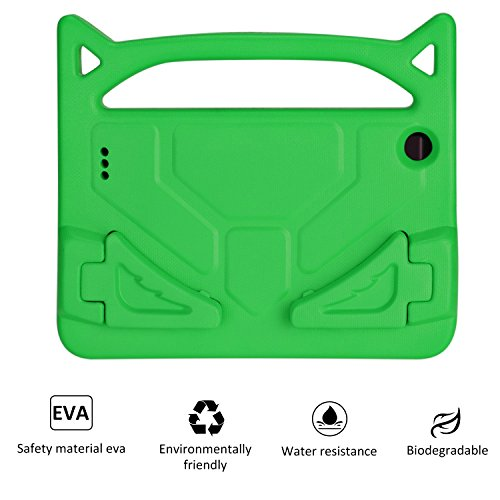 Case for All-New 7 Tablet (Compatible with 7th Generation, 2017 Release/9th Generation, 2019 Release),Shockproof Light Weight Kids Cover for Tablet 7,Green