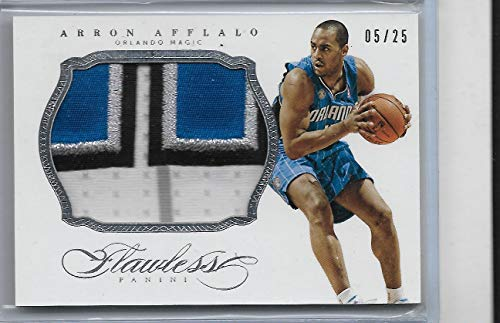 2013-14 Panini Flawless Basketball Aaron Afflalo Jumbo Pact Card # 5/25 Magic