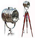 Designer Nautical Spotlight Collectable Searchlight Studio Tripod Floor Lamp