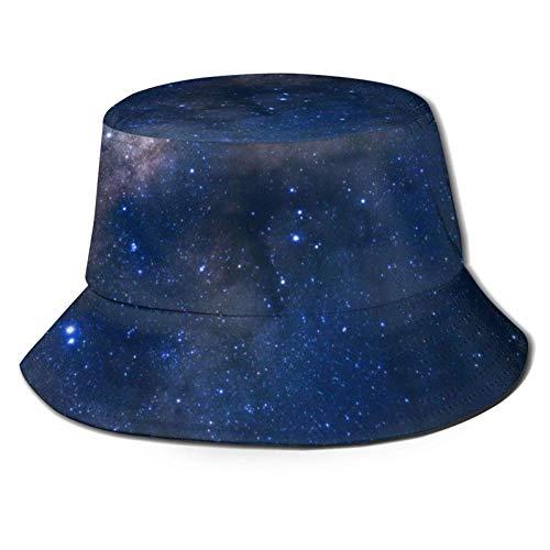 Blue Space Bucket Hat Gorra de Verano al Aire Libre Unisex Sombreros de Sol Plegables para Senderismo Deportes de Playa