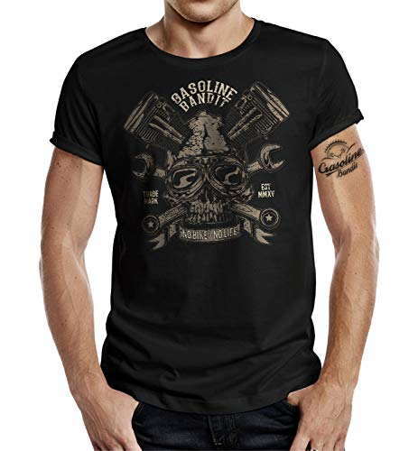 Gasoline Bandit Biker Racer T-Shirt Design - No Bike No Life 2XL