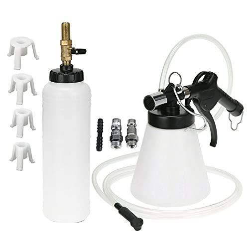 DEFTSHEEP Máquina de llenado de la herramienta de reemplazo de líquido de líquido de freno de coche 1sET (Color : Black white)
