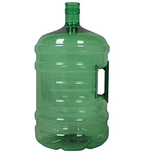 Botellón de 18.9 litros, para Agua. Compatible con Tapones de 5 galones. Apto para dispensadores de Agua. Color Verde. Libre de bisfenol-A