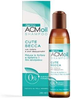 DermoACM oil SHAMPOO delicato per la CUTE SECCA con prurito, forfora e stati desquamativi, a basso potere schiumogeno. Azi...