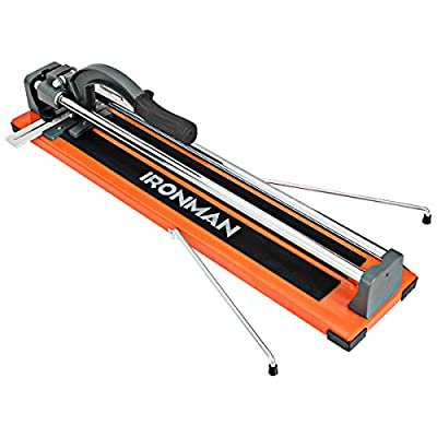 Goplus 24-Inch Manual Tile Cutter, 16-Inch Diagonal Porcelain Ceramic Floor Tile Cutter Machine with Tungsten Carbide Cutting Wheel and Removable Scale