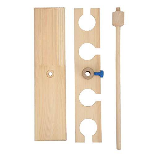 Laboratory funnel rack Adjustable dropper rack Adjustable 4 Holes Funnel and Burette Combined Wooden Stand Holder for School Lab