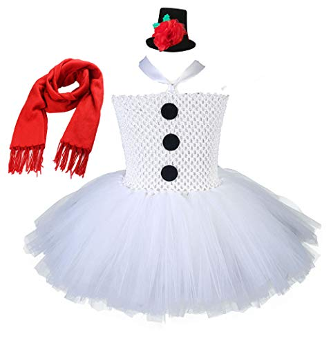 Tutu Dreams Snowman Tutu Costume Teen Girls Plus size 10-12 Christmas Winter Recital Performance Dresses (Snowman with headwear, 9-10 Years)