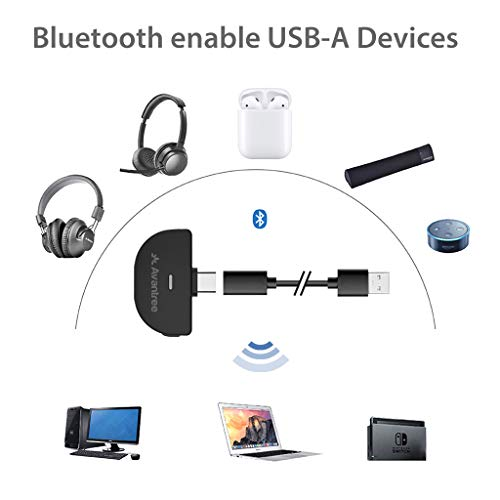 Avantree C51 USB Type-C Bluetooth 5.0 Audio Transmitter Adapter for Nintendo Switch, Compatible with AirPods, Supports…