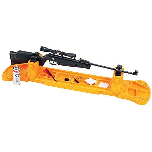 Adatto per qualsiasi arma lunga, da un AR15 corto a un carabina da Bench Rest a fucile sovrapposto o giustapposto o una carabina ad aria compressa Protezioni in gomma sulle morse, regolabili bi-direzionalmente, per non danneggiare parti di legno, met...