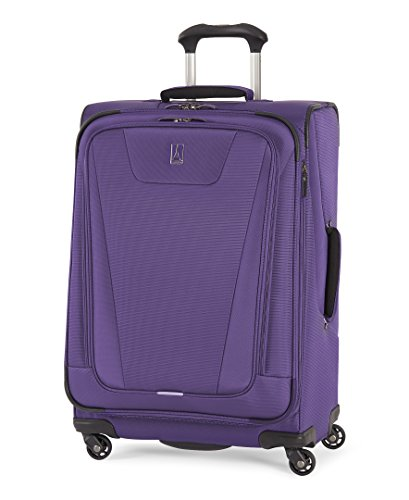 Travelpro Maxlite 4-Softside Expandable Luggage with Spinner Wheels, Purple