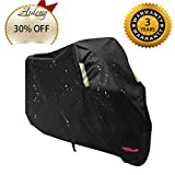 Aideng Motorcycle Rain Cover, 210 D Oxford All Season Super Waterproof Motorcycle Snow Cover Breathable XXL 104 Inches Bicycles Shelter Dust Cover for Harley, Triumph, Suzuki, Honda Yamaha and More