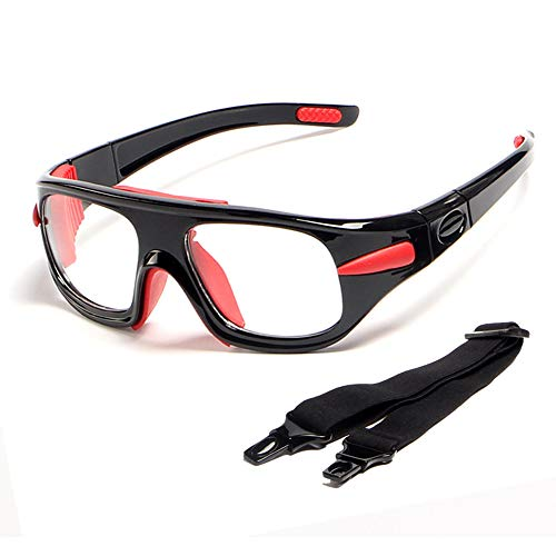 spiid Basketball Sportbrille, Schutzbrille, Sicherheitstraining, Sportbrille für Männer und Frauen - Schwarz - Einheitsgröße