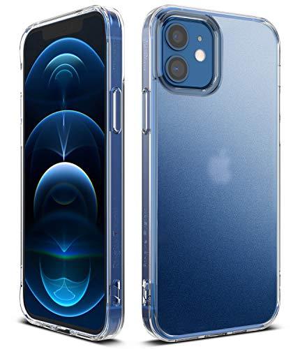 Ringke Fusion Compatible con Funda iPhone 12, Compatible con Funda iPhone 12 Pro (6,1 Pulgadas), Anti Huella Dactilar Escarcha Transparente Fina Slim Carcasa Parachoque TPU - Matte Clear