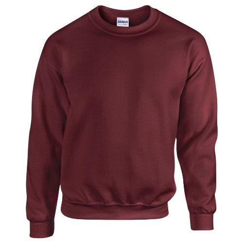 Gildan Herren Sweatshirt, Maroon, M